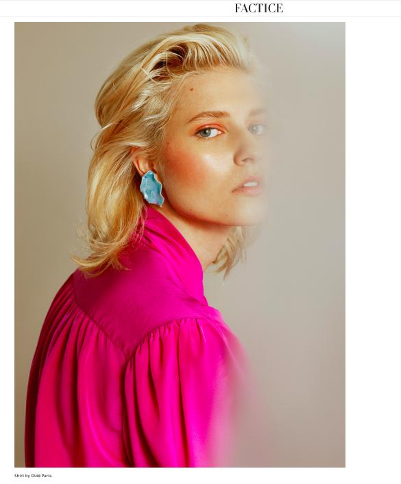 Clara Achard on Factice Magazine