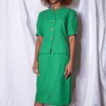 Tailleur vert