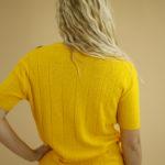 Pull jaune en éponge vintage