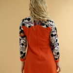 Robe orange imprimé 70's