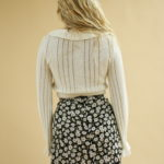 Mini jupe évasée à fleurs