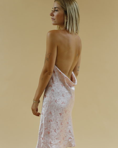 robe satinée