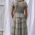 Robe longue menthe