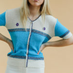 Pull vintage manches courtes made in Italy