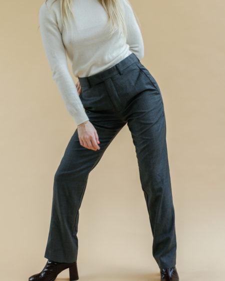 Pantalon Agnès B gris clair vintage