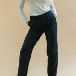 Pantalon Agnès B gris foncé vintage