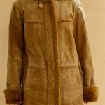 Peau lainée en daim et fausse fourrure