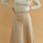 Jupe en laine à carreaux