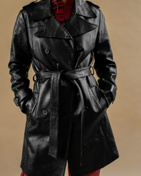 Trench en cuir Oakwood