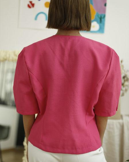 blouse fushia vintage