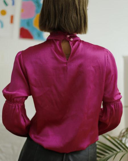 blouse vintage satinée