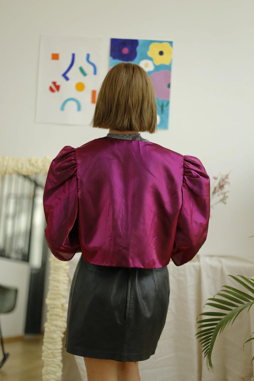blouse satinée vintage