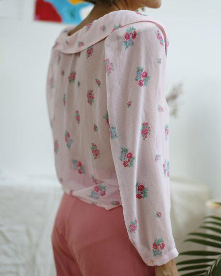 blouse vintage fleurie