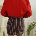 jupe vintage à carreaux