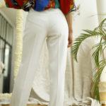 pantalon blanc vintage