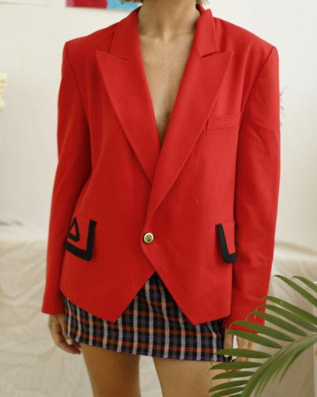 veste rouge vintage