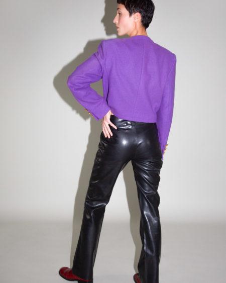 Veste Yves Saint Laurent violette vintage