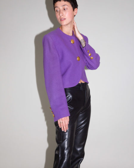 Veste Yves Saint Laurent violette
