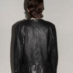 Veste cuir noir