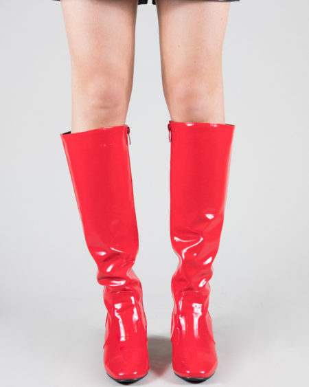 Bottes vinyles rouge