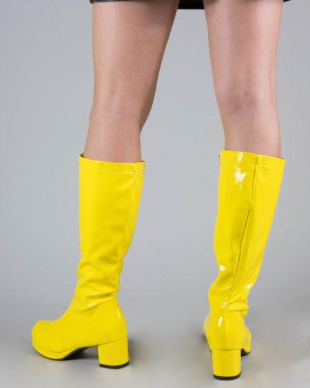 bottes vinyles jaunes