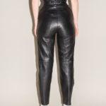 pantalon cuir resserré taille
