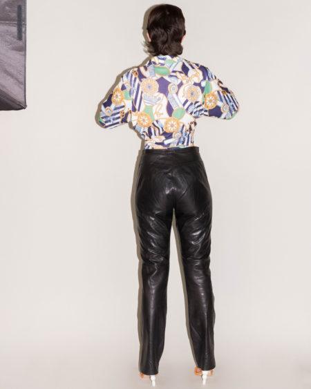 pantalon cuir noir