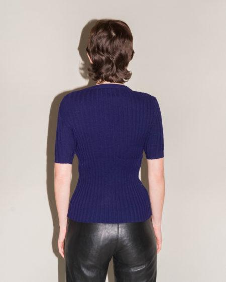pull laine bleu marine